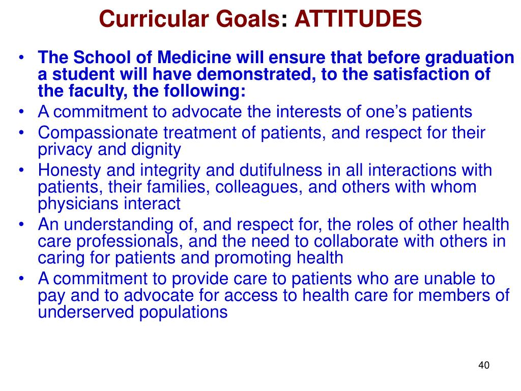 Curricular Goals