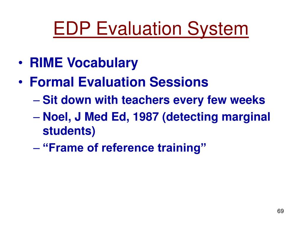 EDP Evaluation System