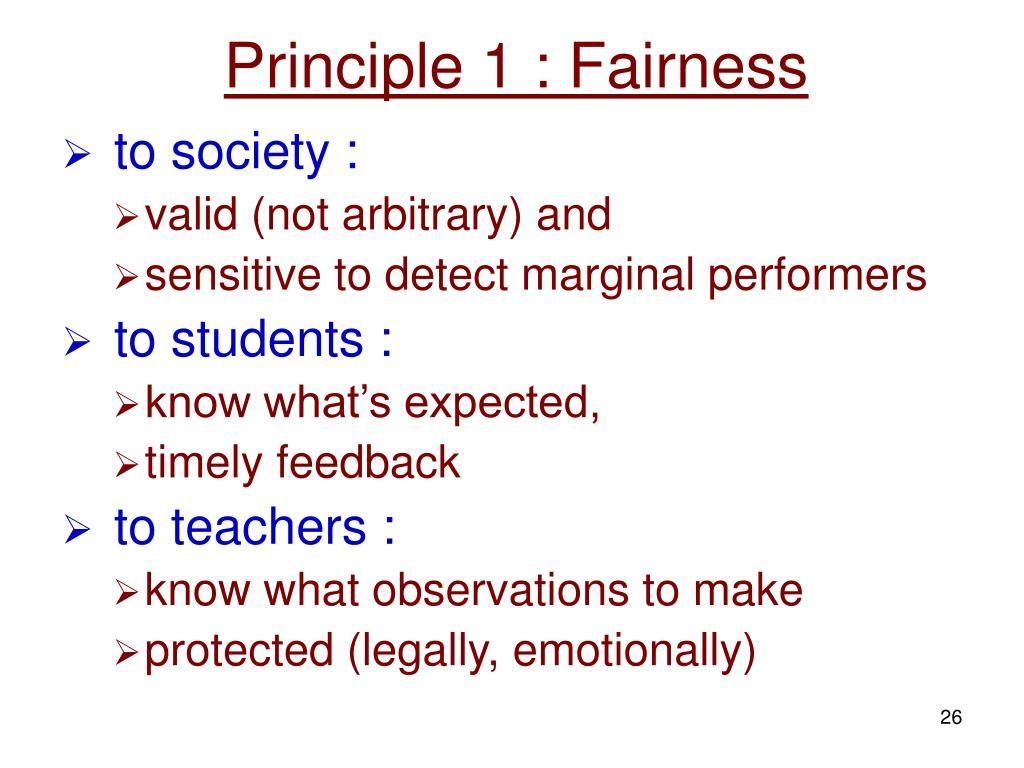 Principle 1 : Fairness