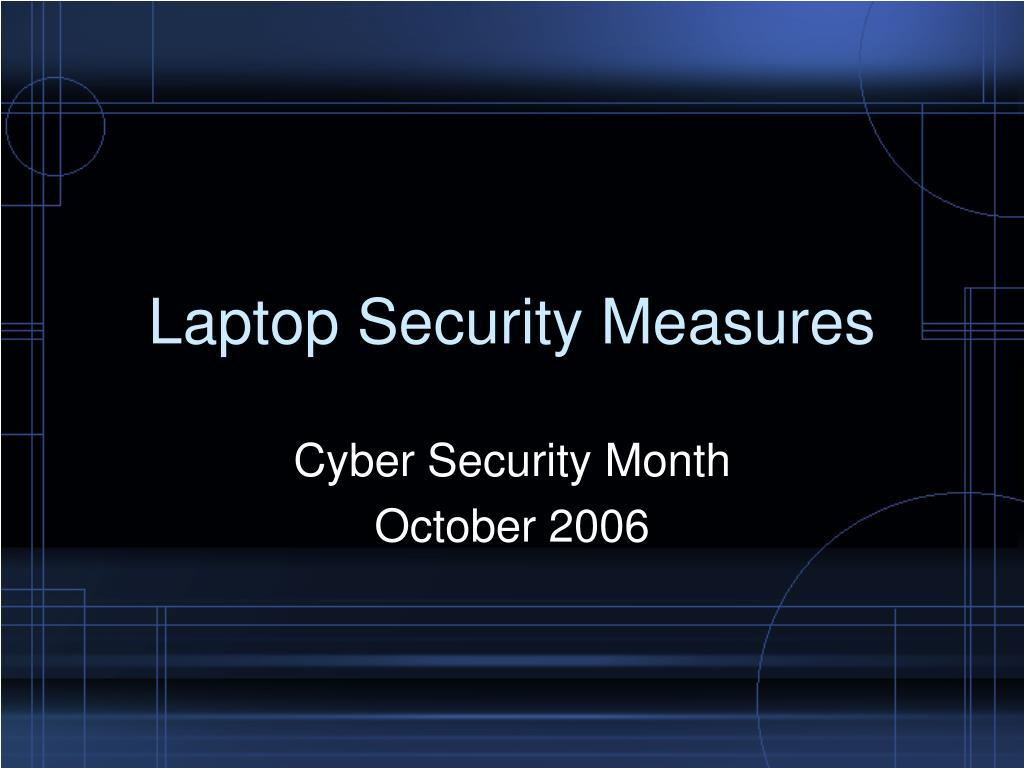 laptop security measures