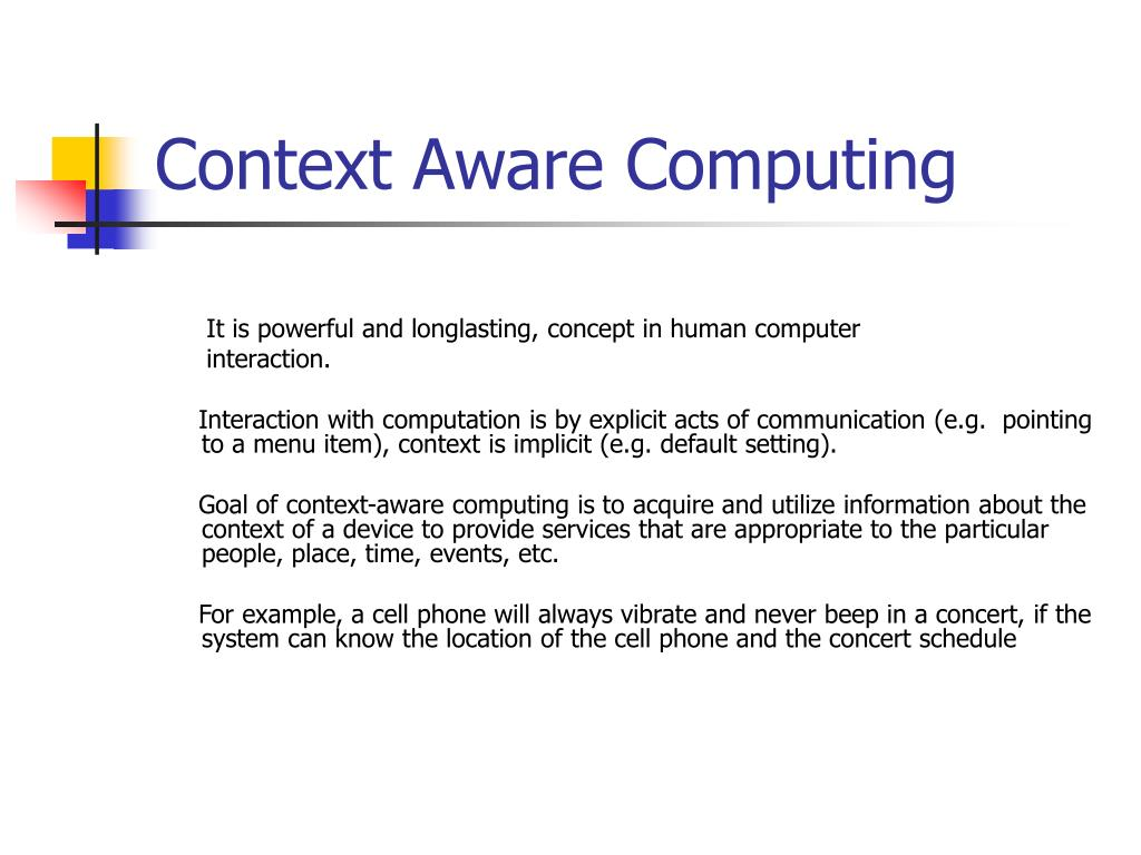Context Aware Computing