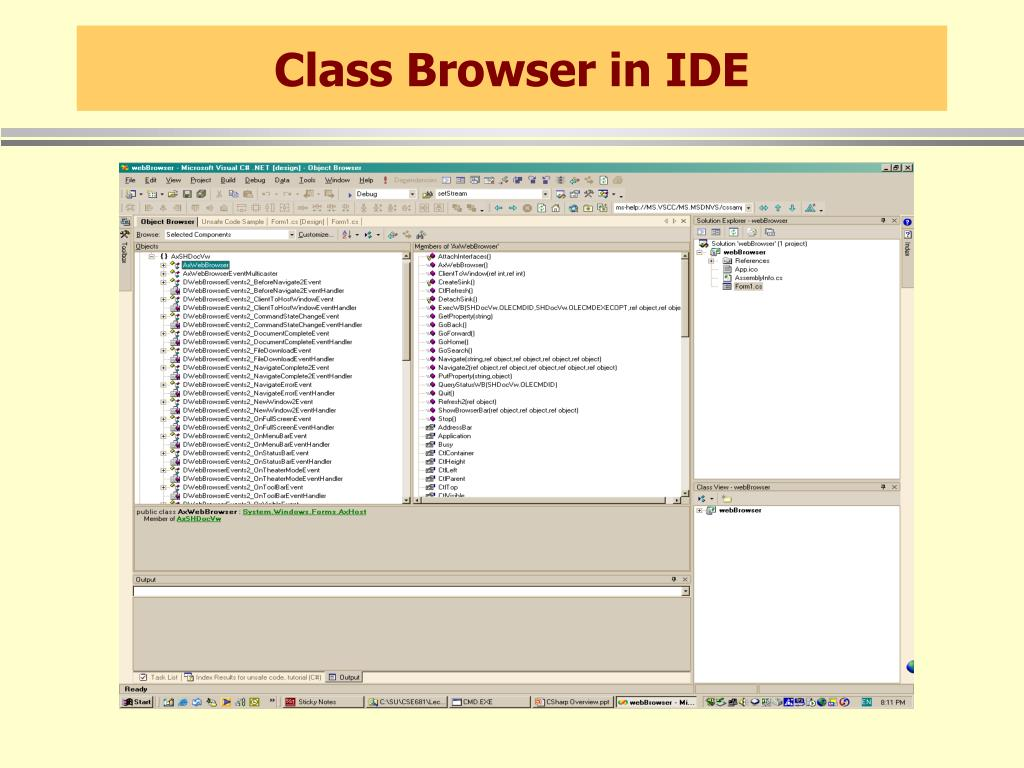 Class Browser in IDE
