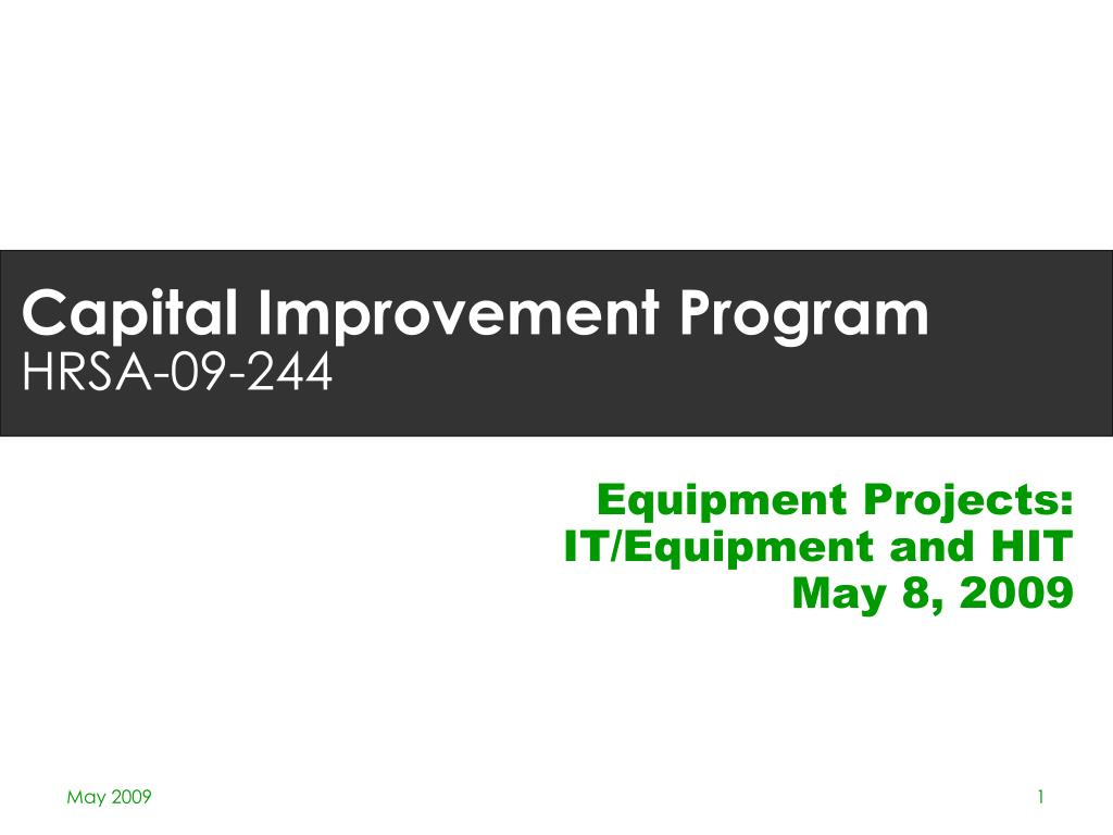 Equipment Projects: