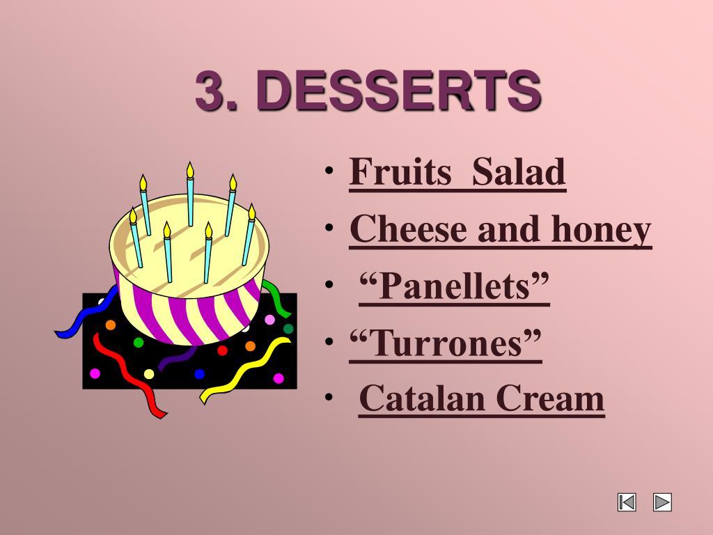3. DESSERTS