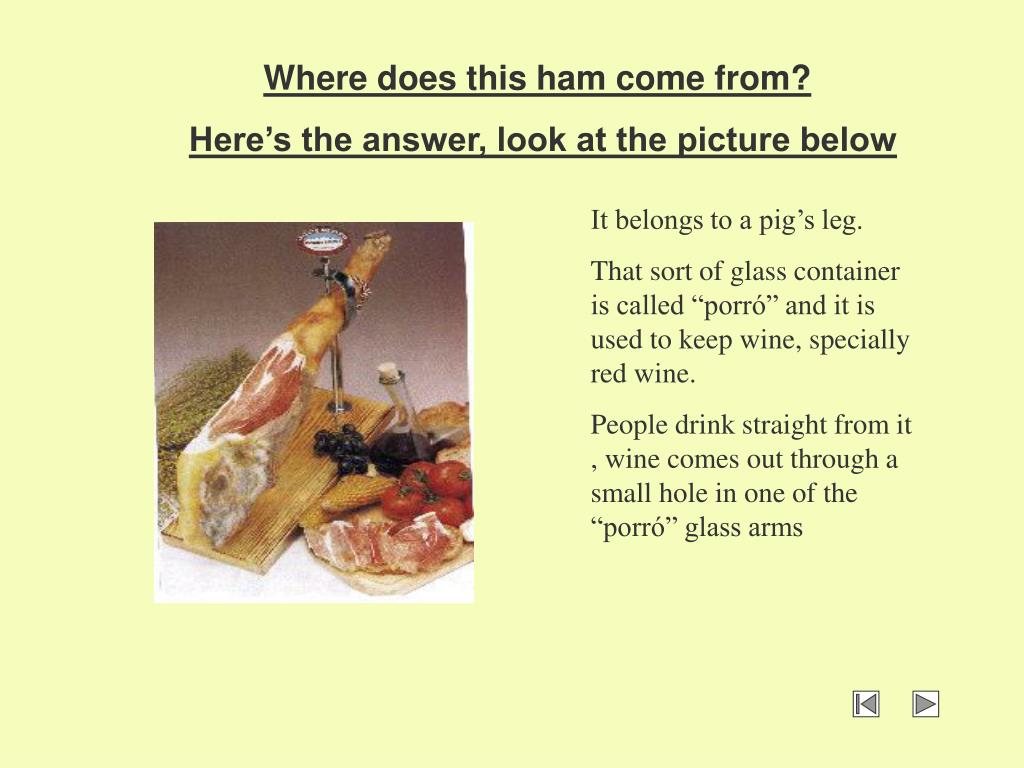 Where does this ham come from?