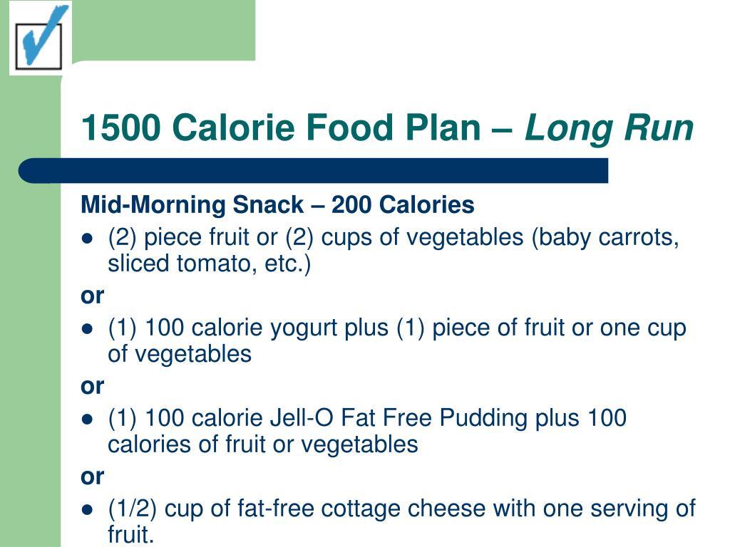 1500 Calorie Food Plan