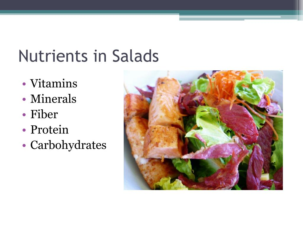 Nutrients in Salads