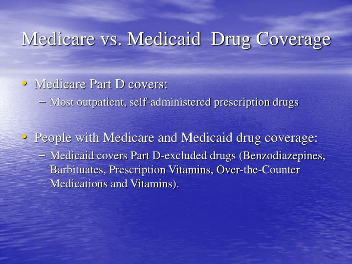Medicare vs. Medicaid  Drug Coverage