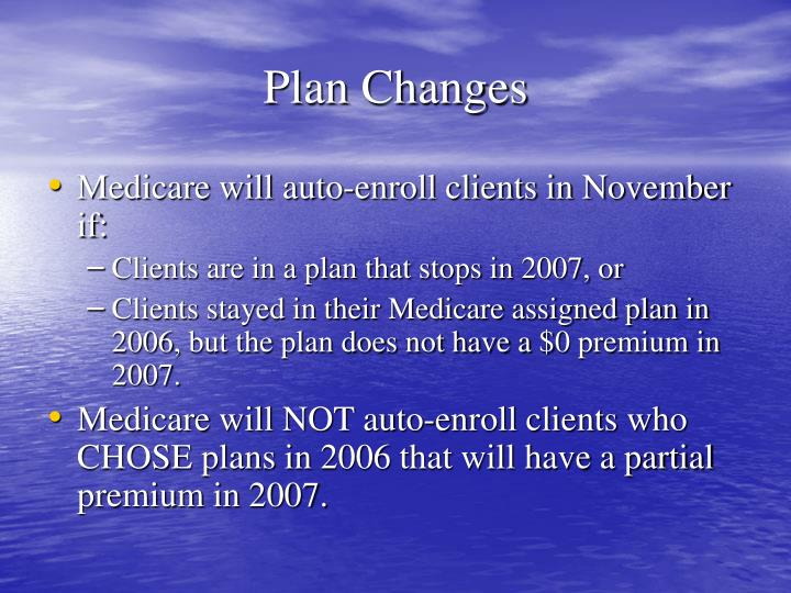 Plan Changes