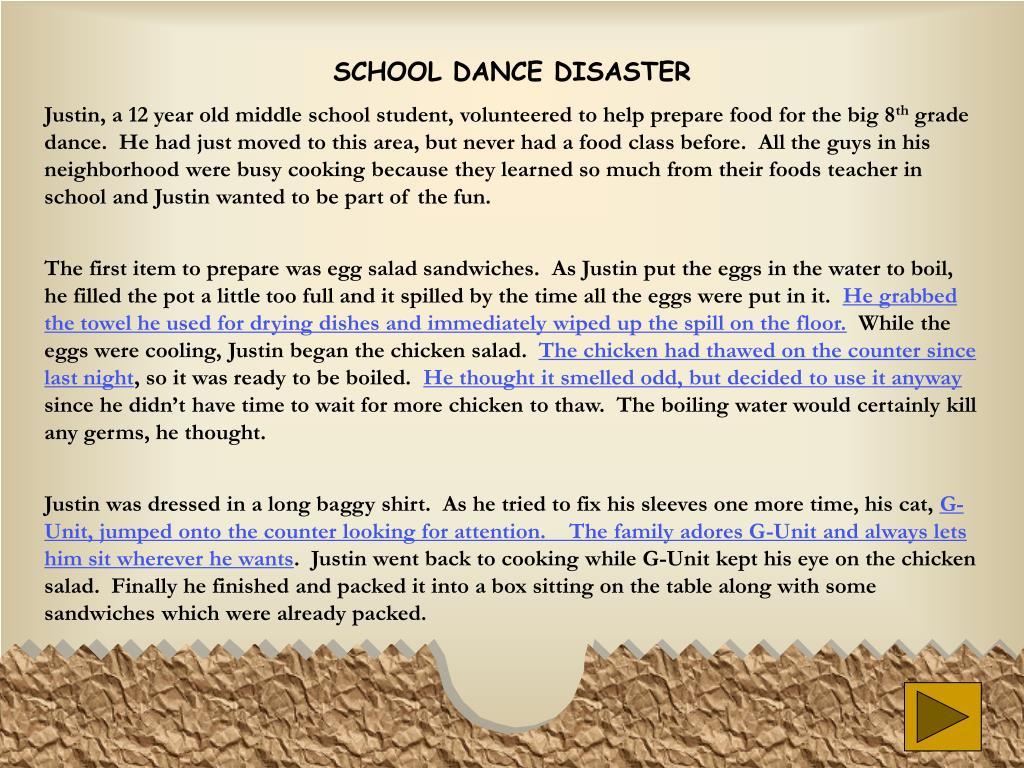 SCHOOL DANCE DISASTER