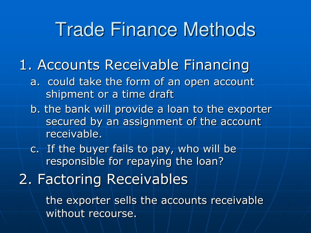 Trade Finance Methods