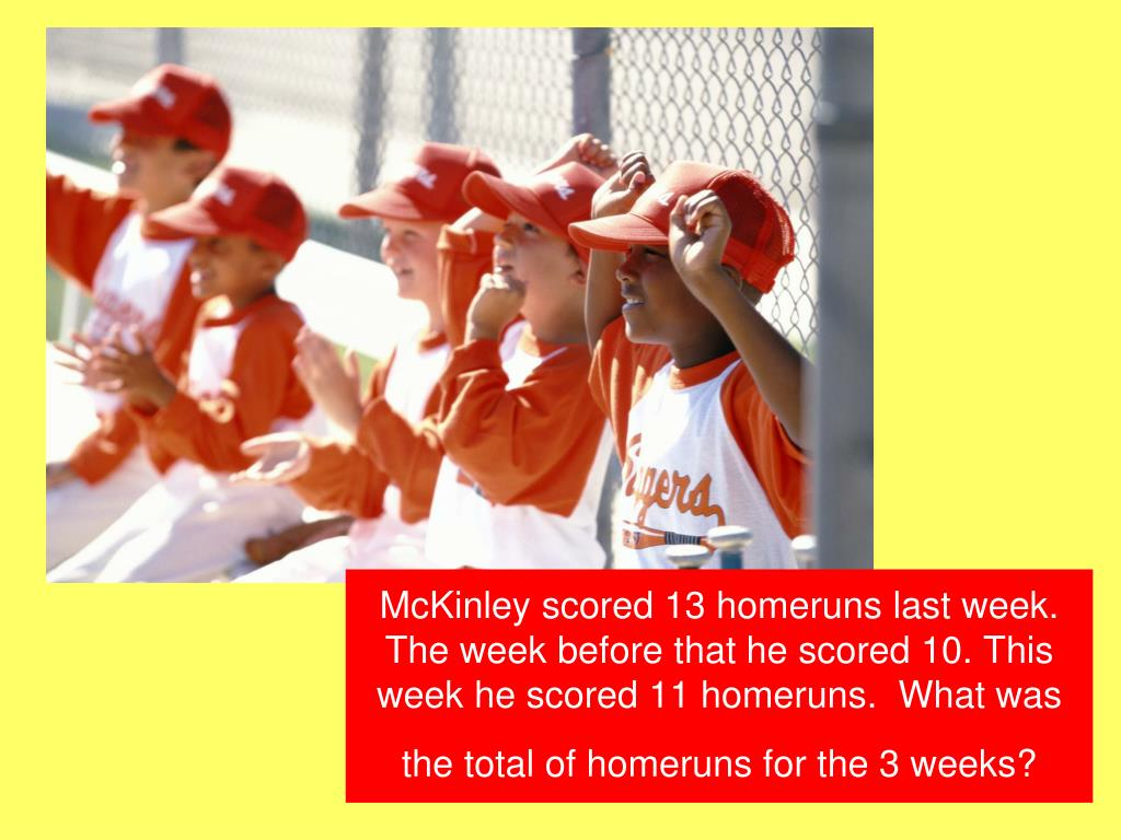 McKinley scored 13 homeruns last week.  The week before that he scored 10. This week he scored 11 homeruns.  What was the total of homeruns for the 3 weeks?