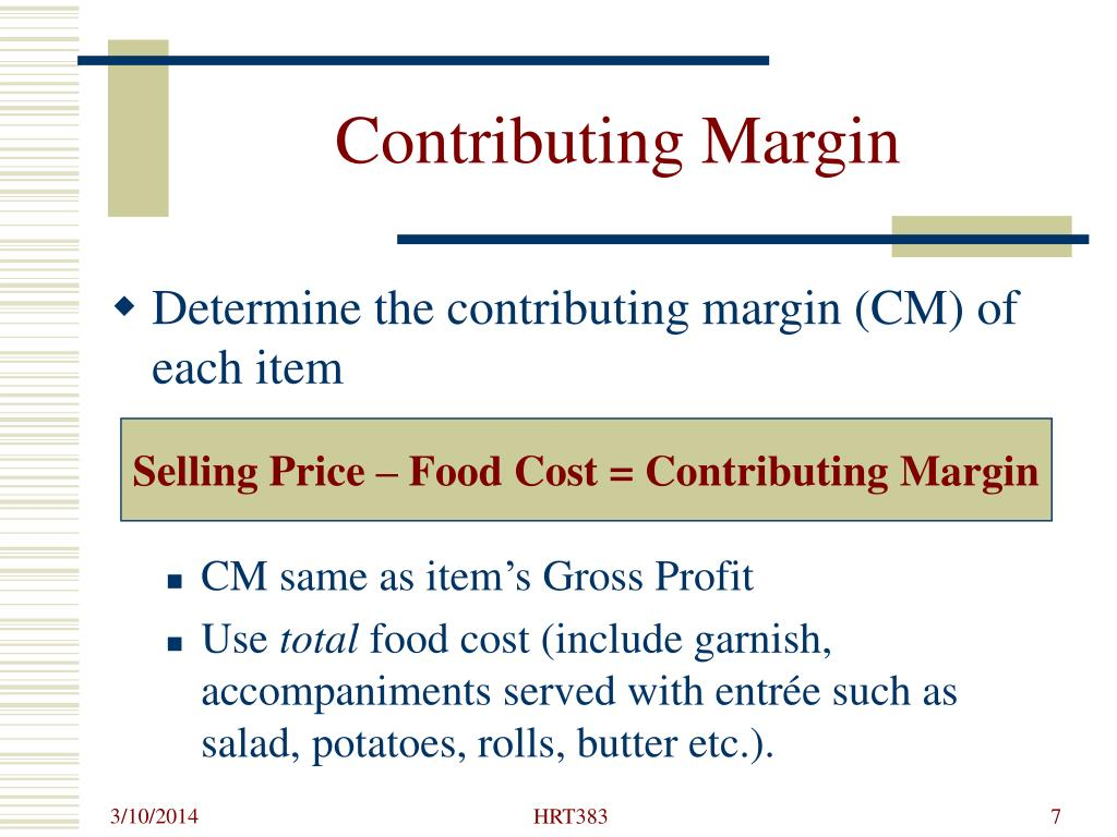 Contributing Margin