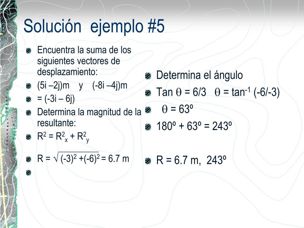 Encuentra la suma de los siguientes vectores de desplazamiento: