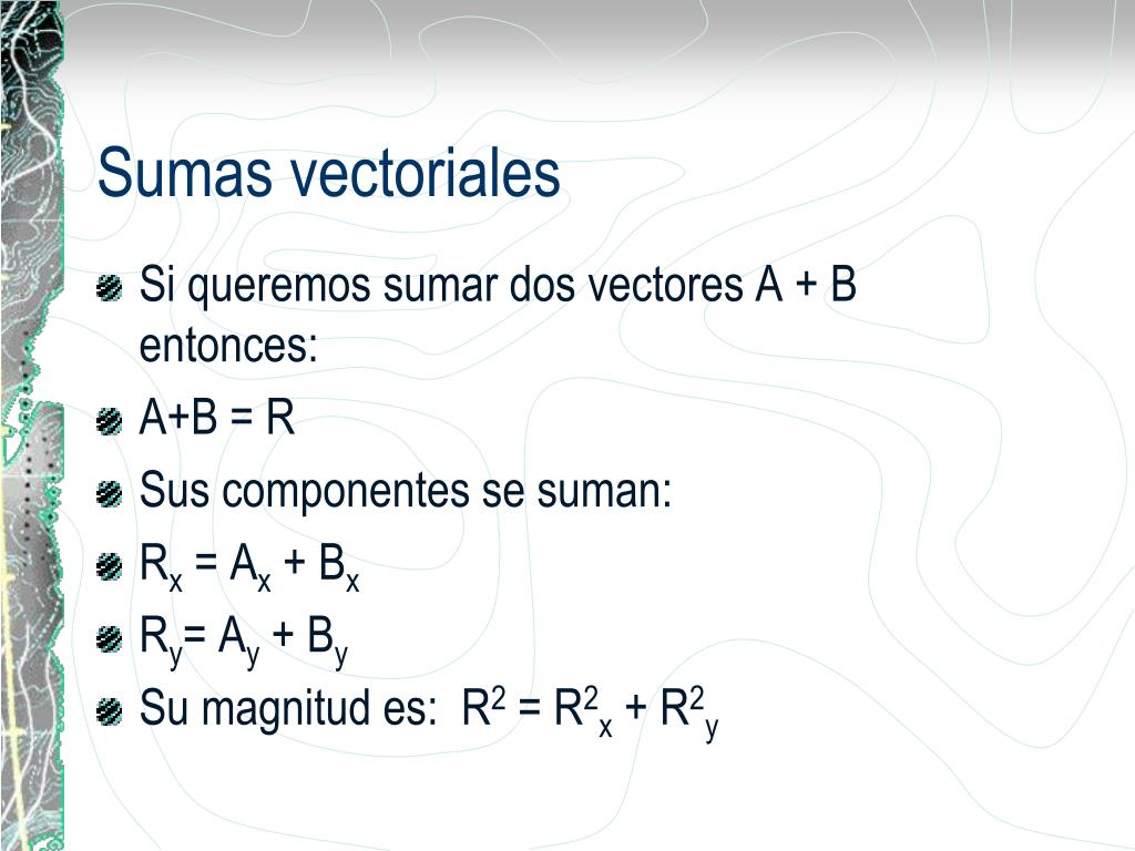 Sumas vectoriales