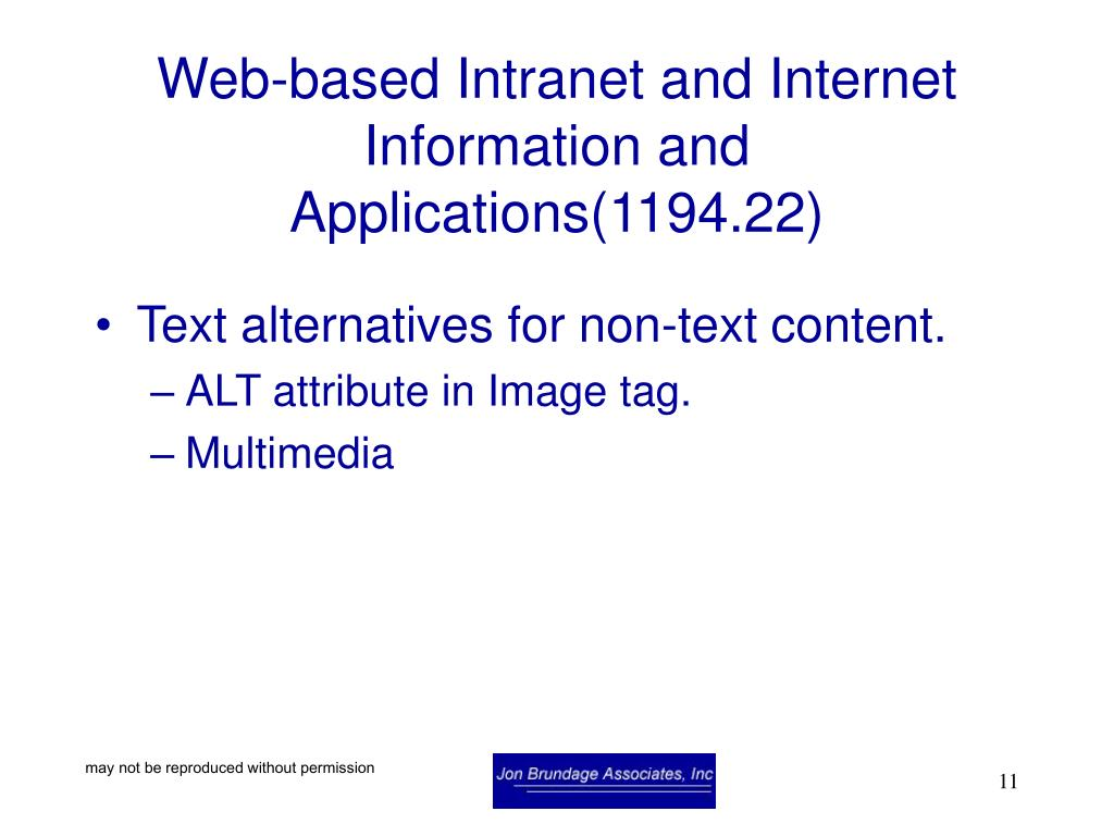 Web-based Intranet and Internet Information and Applications(1194.22)