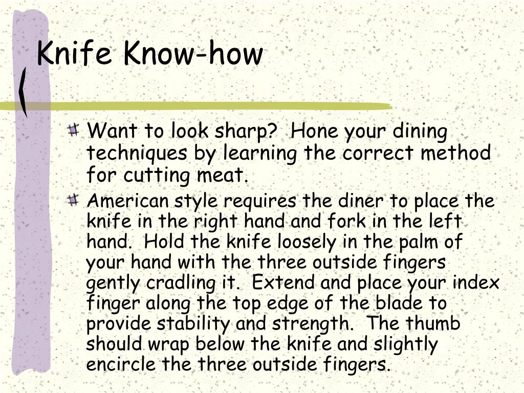 Knife Know-how