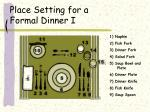 place setting for a formal dinner i