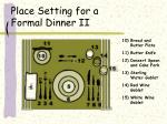 place setting for a formal dinner ii
