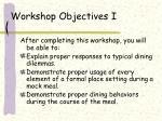 workshop objectives i4