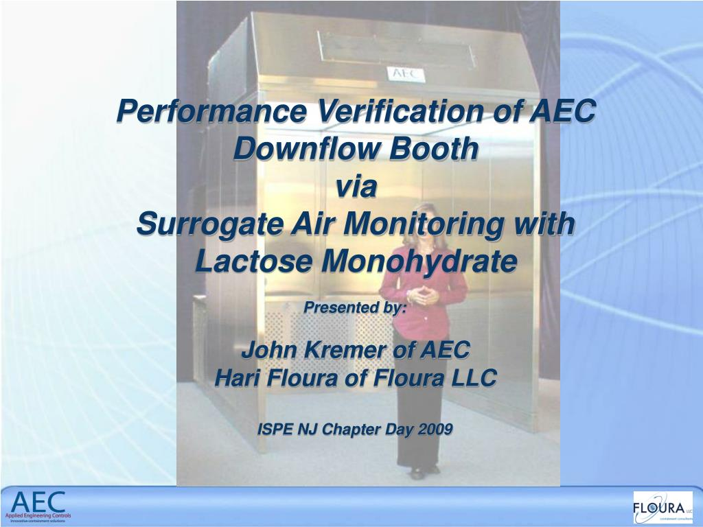 Performance Verification of AEC Downflow Booth