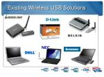existing wireless usb solutions