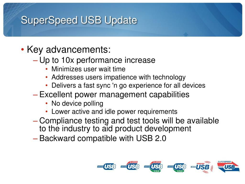 SuperSpeed USB Update