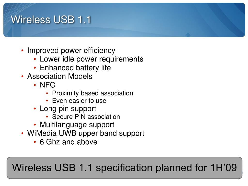 Wireless USB 1.1