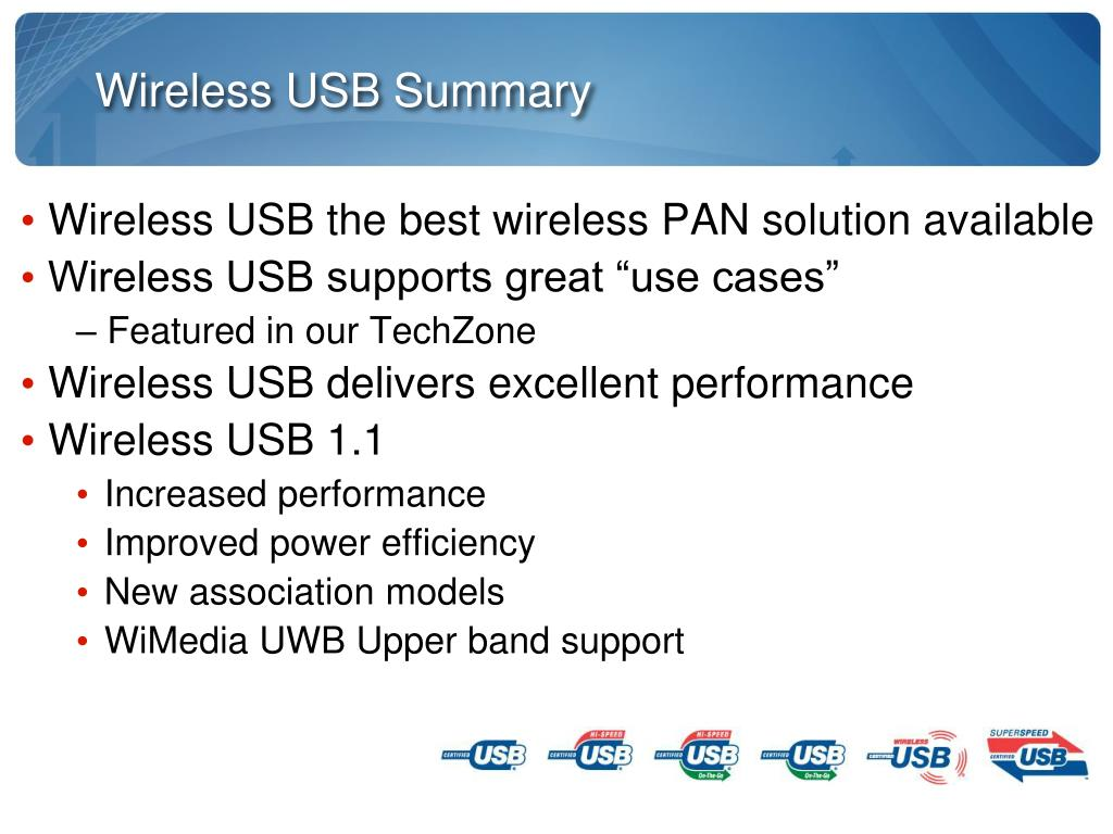 Wireless USB Summary