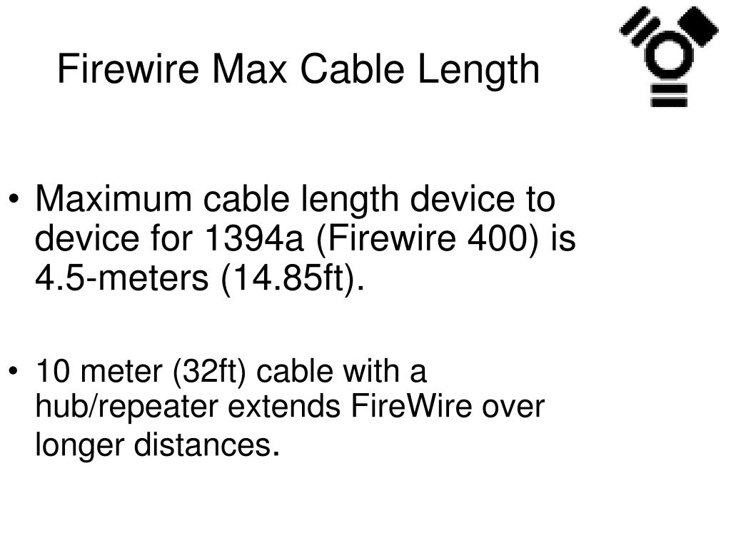 Firewire Max Cable Length