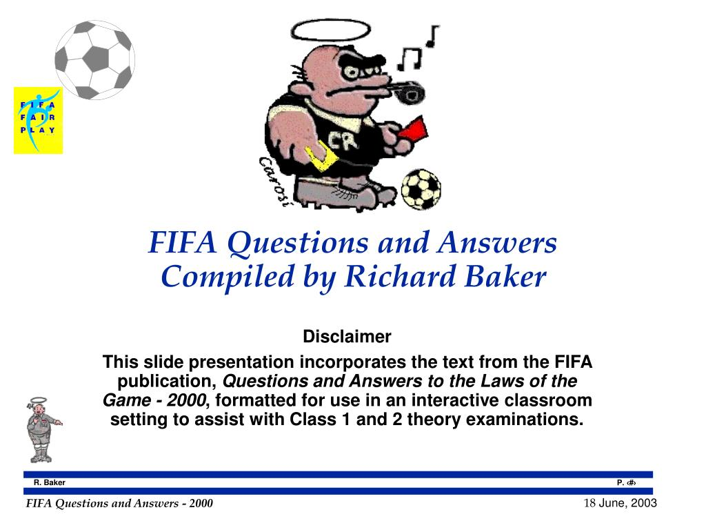 FIFA Questions and Answers