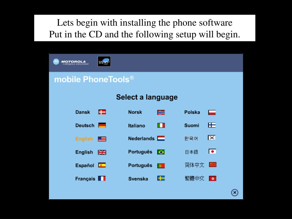 Lets begin with installing the phone software
