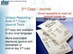 2 nd copy journal