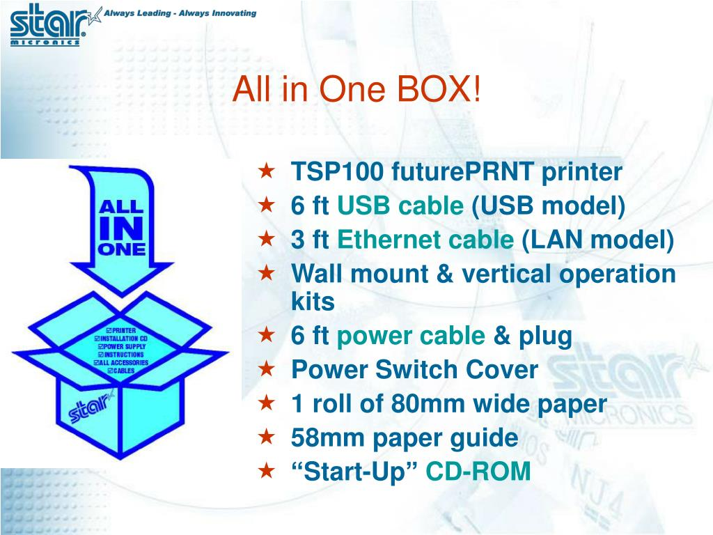 TSP100 futurePRNT printer