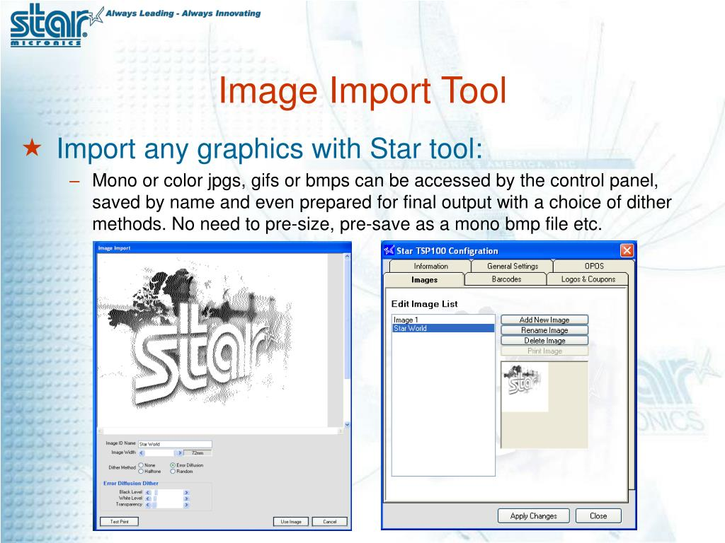 Image Import Tool