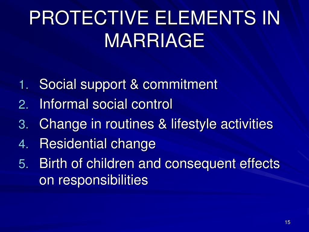PROTECTIVE ELEMENTS IN MARRIAGE