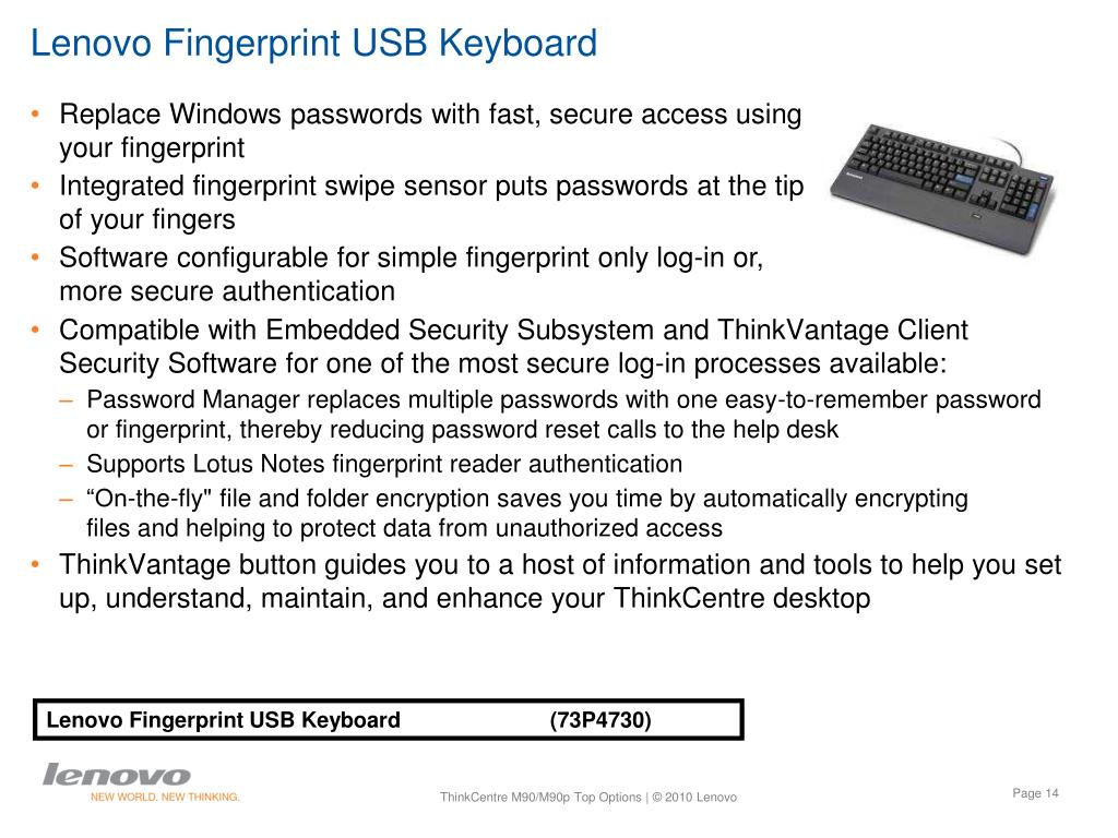 Lenovo Fingerprint USB Keyboard