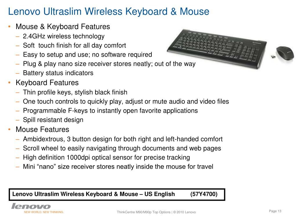 Lenovo Ultraslim Wireless Keyboard & Mouse