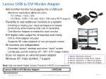 lenovo usb to dvi monitor adapter