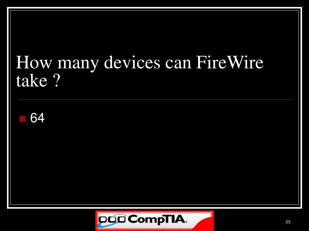How many devices can FireWire take ?