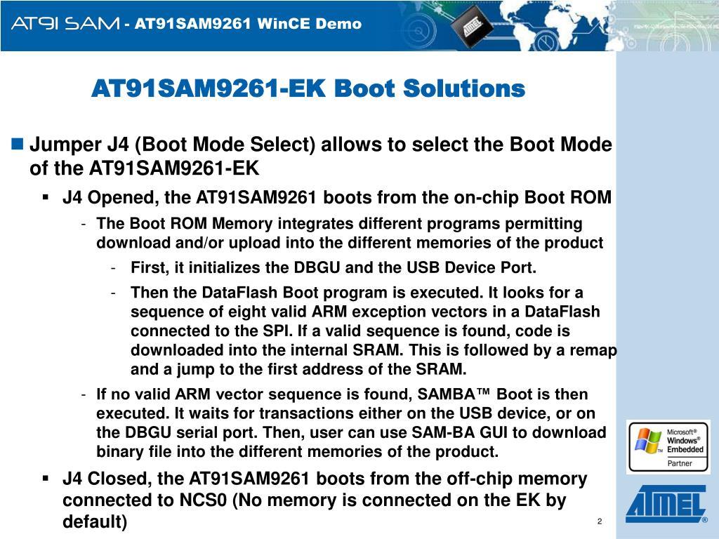 AT91SAM9261-EK Boot Solutions