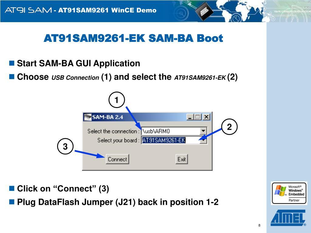 AT91SAM9261-EK SAM-BA Boot