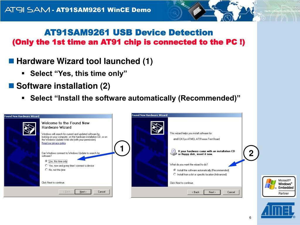 AT91SAM9261 USB Device Detection