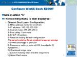 configure wince boot eboot15