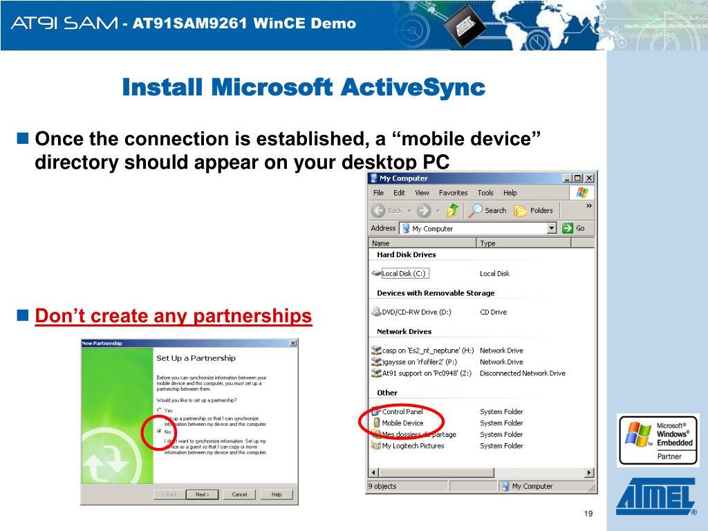 Install Microsoft ActiveSync