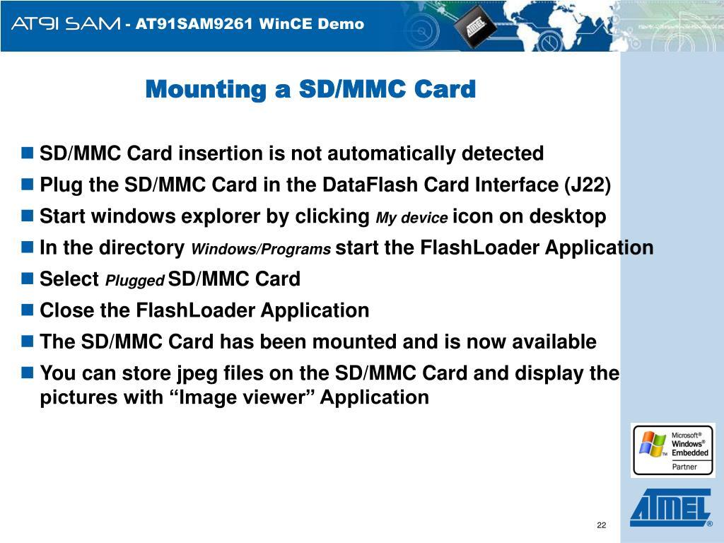 Mounting a SD/MMC Card
