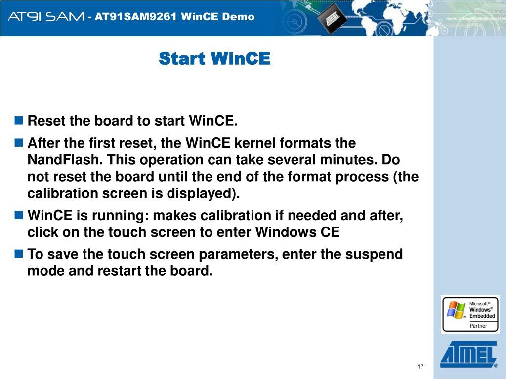 Start WinCE