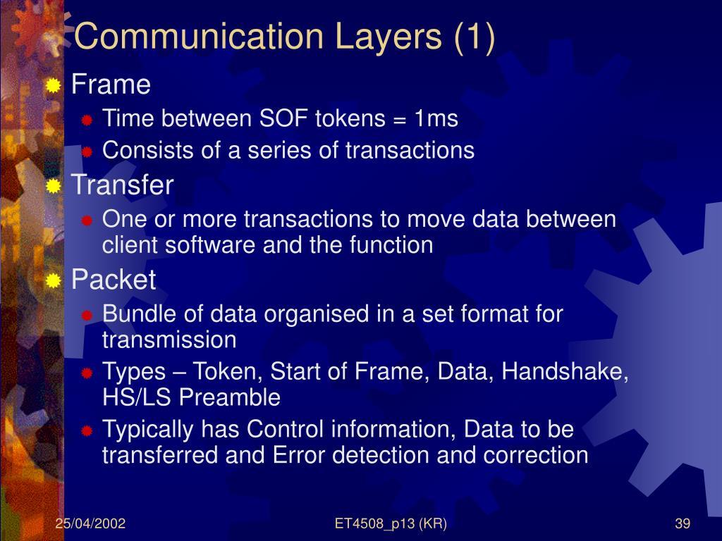 Communication Layers (1)