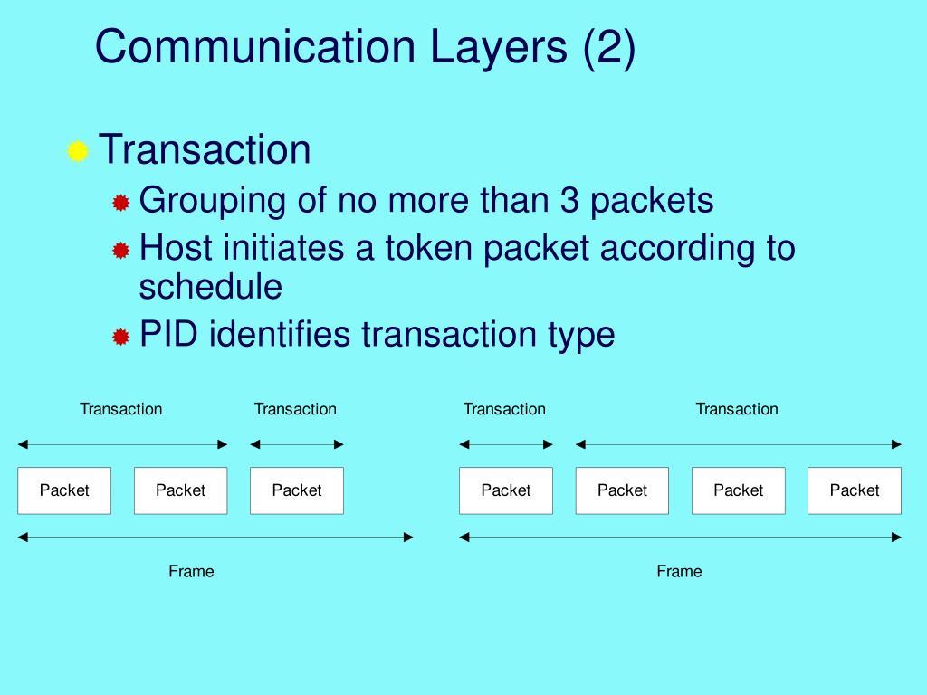 Communication Layers (2)