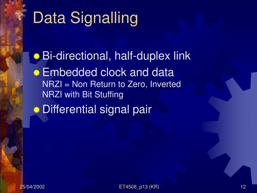 Data Signalling